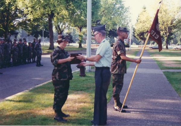 Another view of the officer giving me the plaque