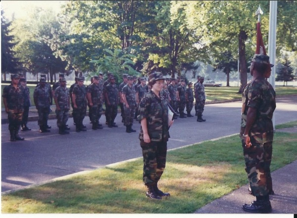 Me in front of the formation