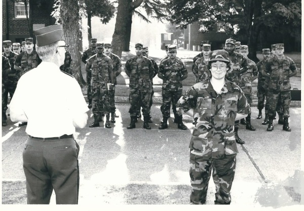 Me in front of the formation, trying very hard not to smile.