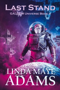 Cover for Last Stand, showing a man in a spacesuit