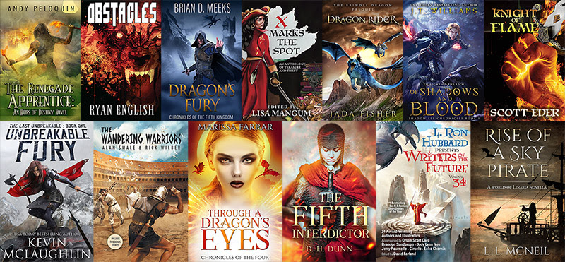 Covers for 13 books in the bundle.  List is available on link below.