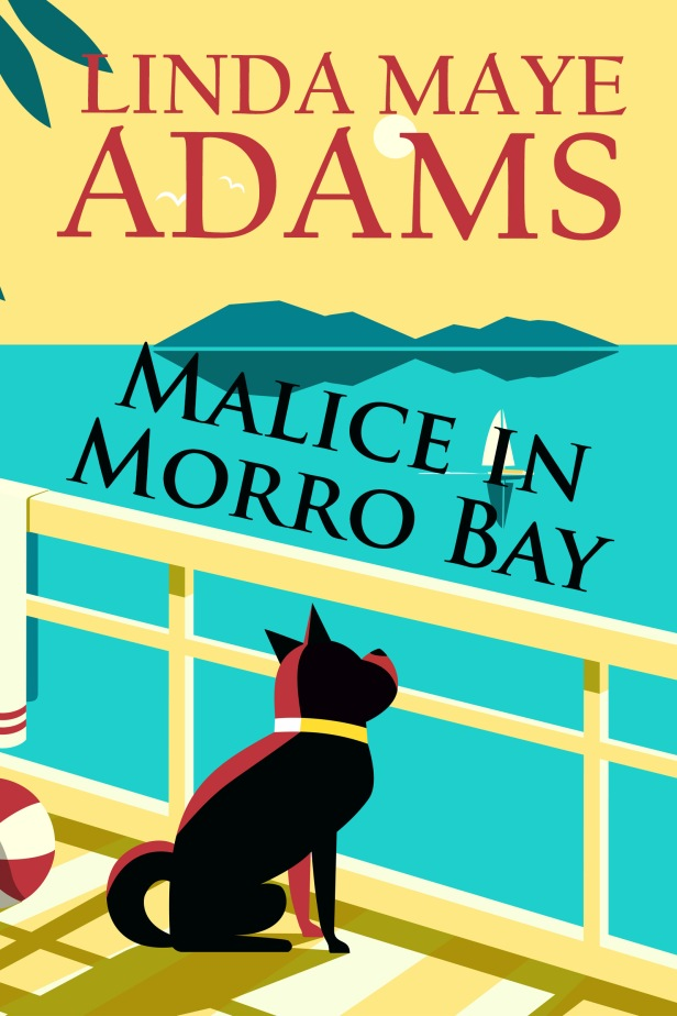 Cover showing a black dog looking out at ocean